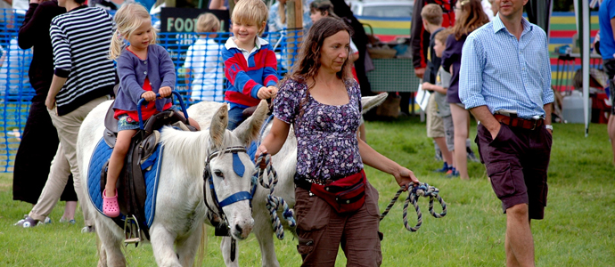 Donkey rides for the youngsters