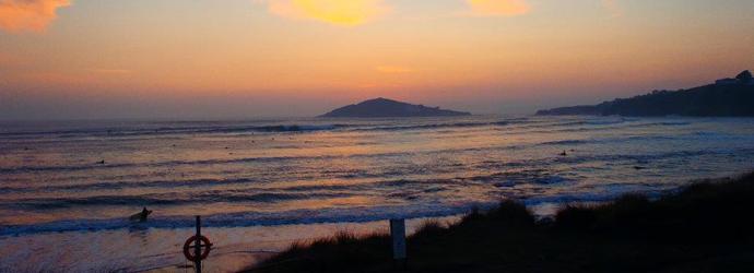 Surfing Bantham 1