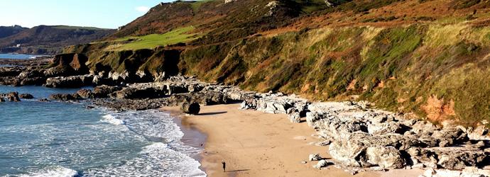 Secret, secluded Mattiscombe beach in South Devon
