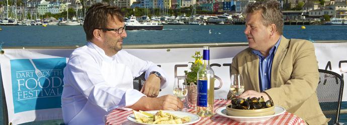 Dartmouth Food Festival 2012 - Mitch Tonks and David Jones copy