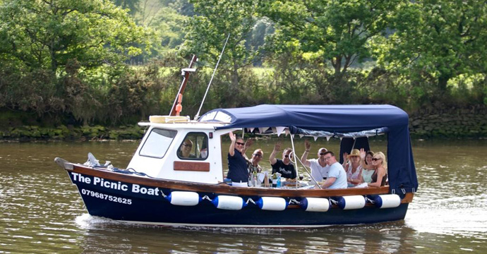 The Picnic Boat on the River Dart