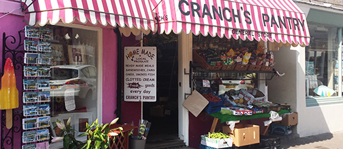 Amongst Salcombe shops, Cranch's Pantry is perhaps the kids' favourite!