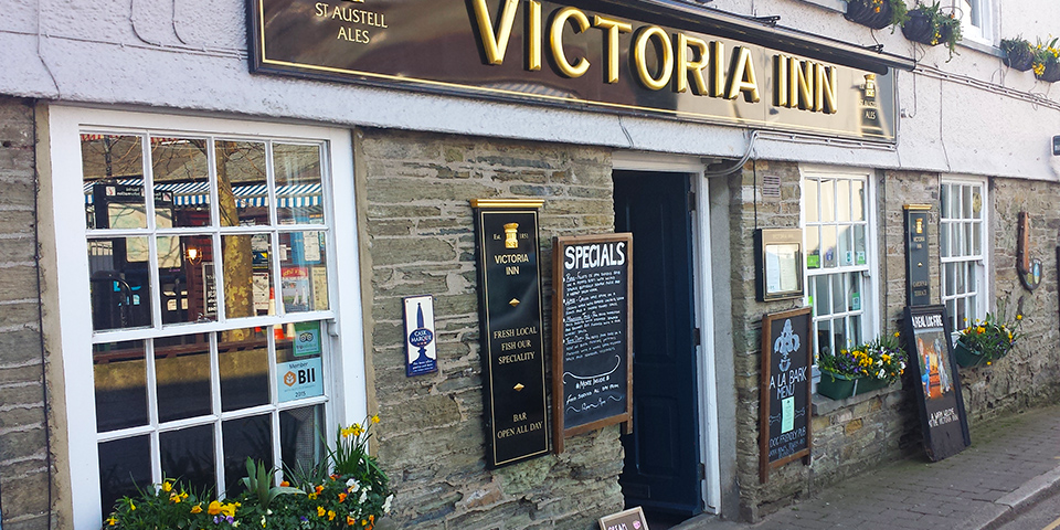 The Victoria Inn, one of the best loved pubs in Salcombe.