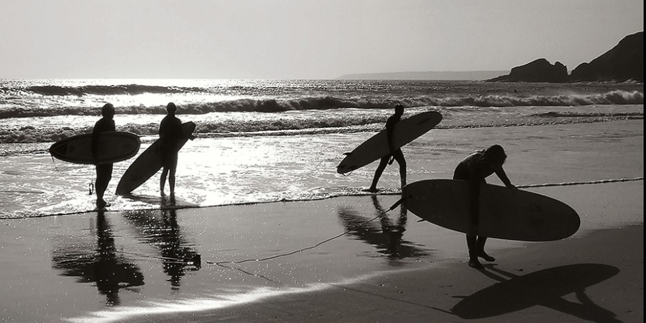 Surfing is synonymous with Bantham Beach!