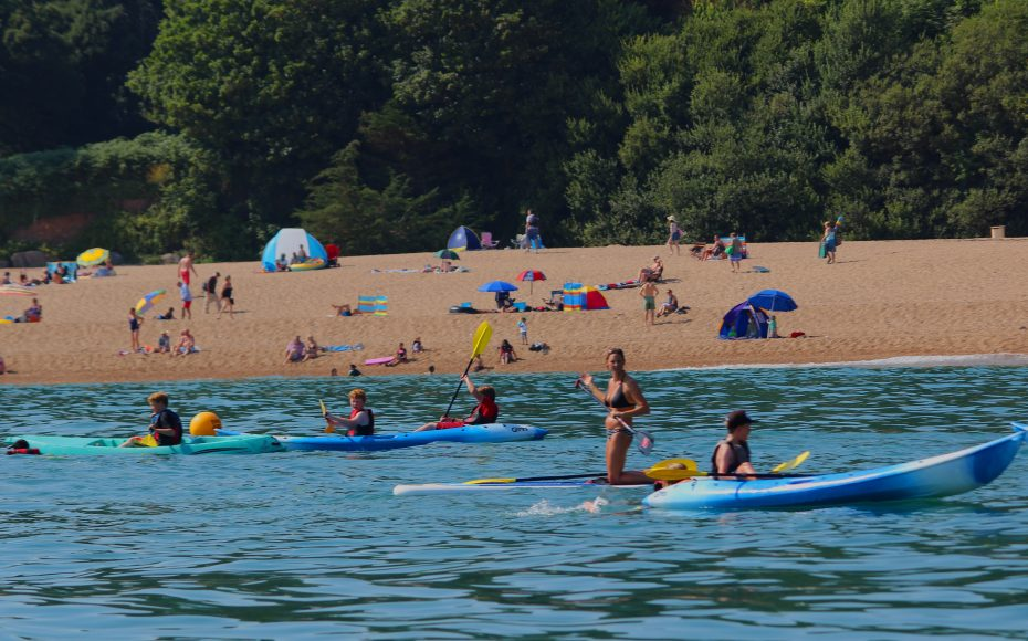 Kayaking in South Devon is a popular holiday pastime