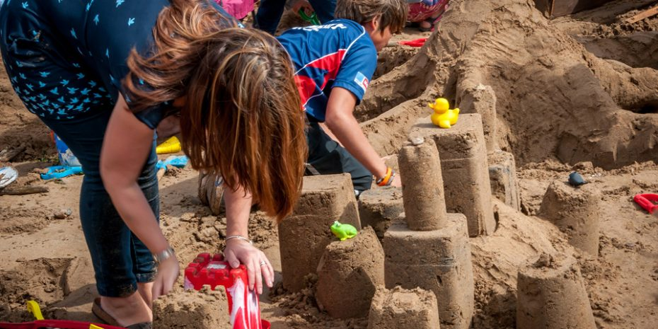 Family friendly holidays - Sandcastle Building