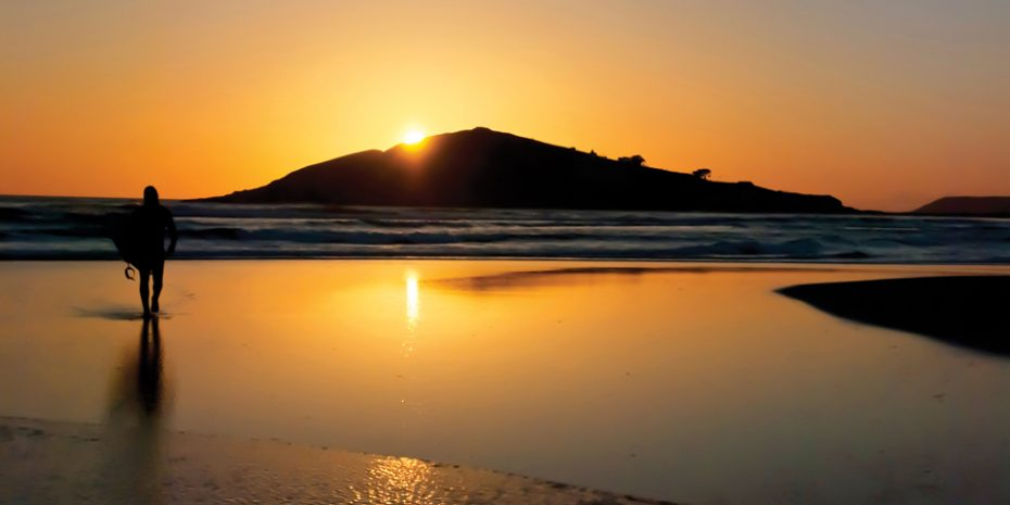 Bantham beach in the evening