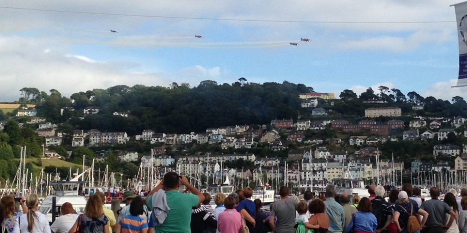 Air displays at Dartmouth Regatta