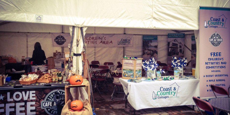Dartmouth Food Festival children's activities marquee