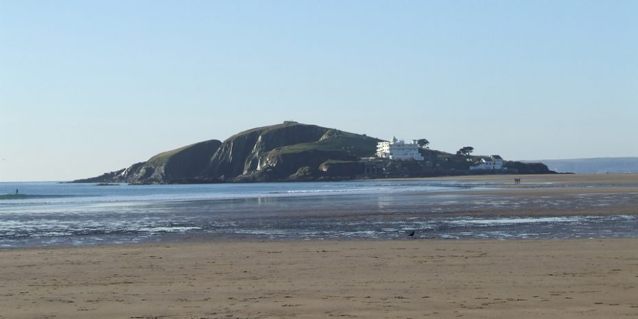 Burgh Island viewed from Bantham Beach