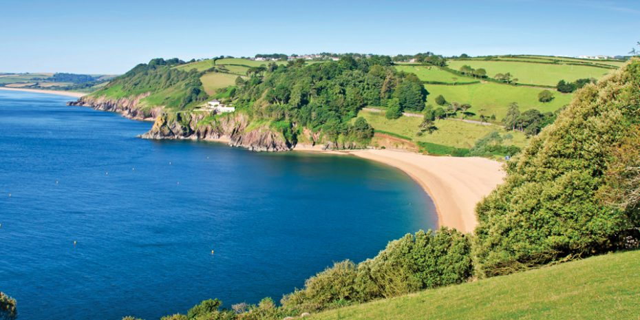Blackpool Sands, one of the most scenic and popular spots for fishing in South Devon