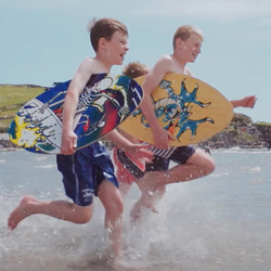 Skim boards at Bigbury