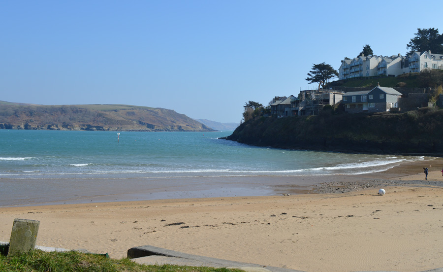 The southerly view from South Sands, Salcombe