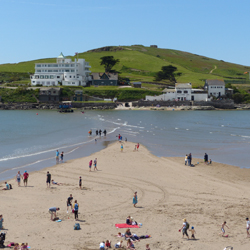Overlooking Bigbury beach and Burgh Island