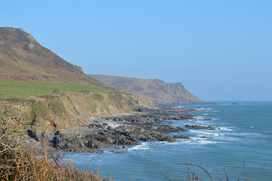 Coastline around Lannacombe Beach