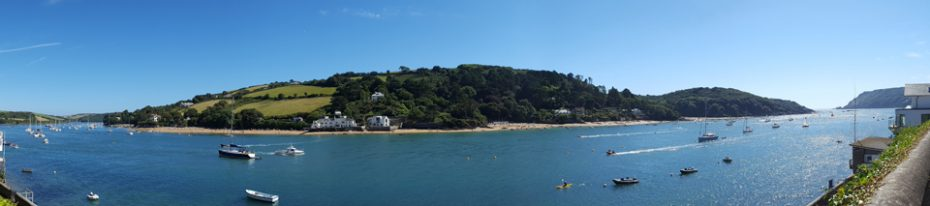 East Portlemouth beach, Milbay and other beautiful coves viewed from Salcombe.