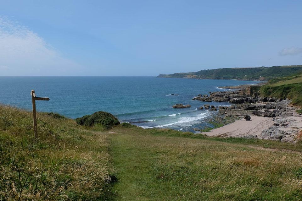 Mattiscombe Beach near Start Point in South Devon