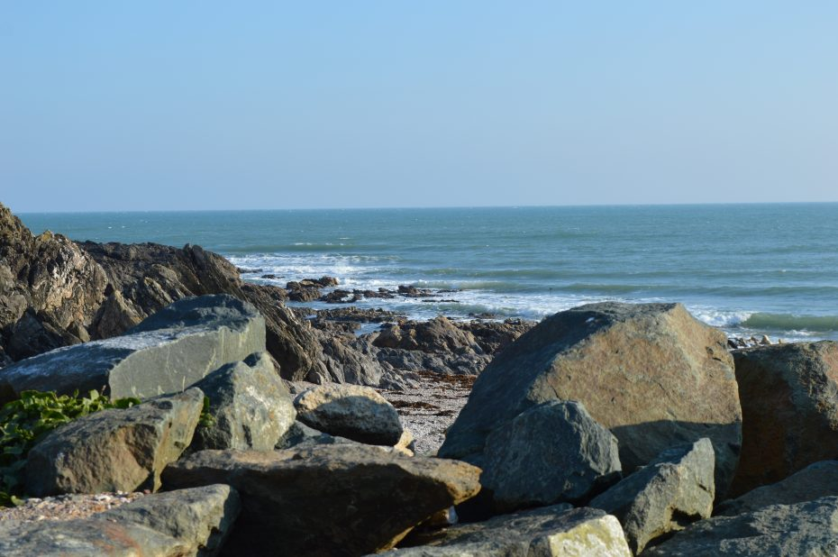 Rocky, secluded Lannacombe beach