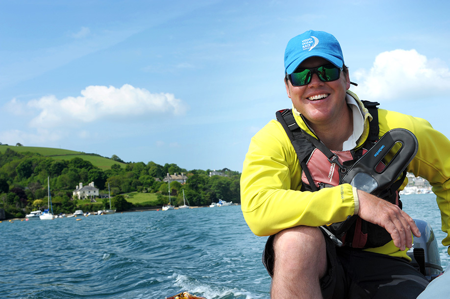 Ross Crook from Salcombe Dinghy Sailing, one of the best Salcombe attractions for budding sailors