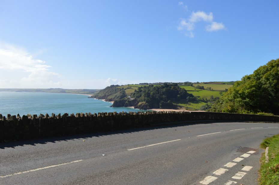 The A379 above Blackpool Sands
