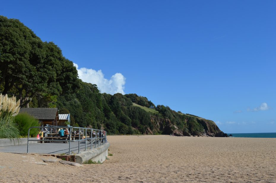 Blackpool Sands, with its popular Venus Cafe