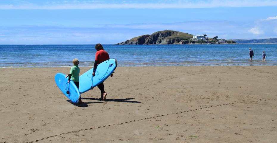 surfing in South Devon - Bantham