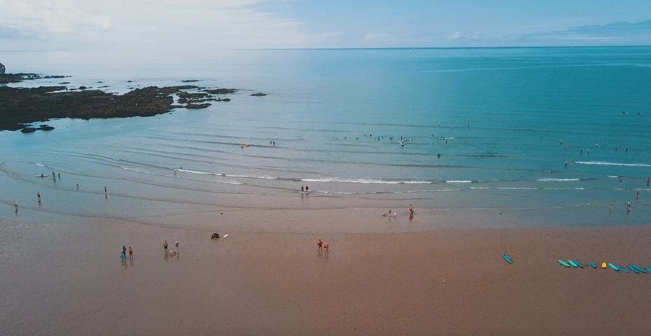 surfing in South Devon - Bantham beach
