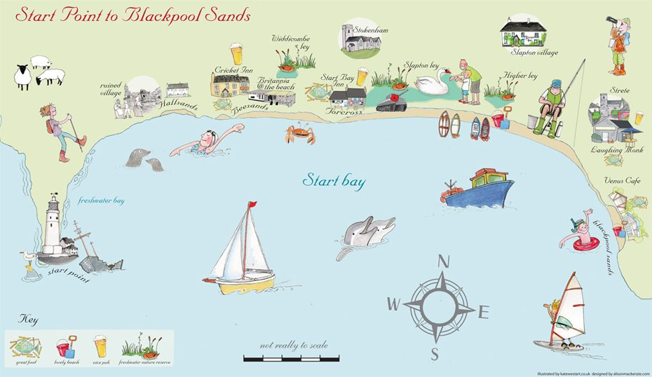 Explore Start Bay with this clickable map!