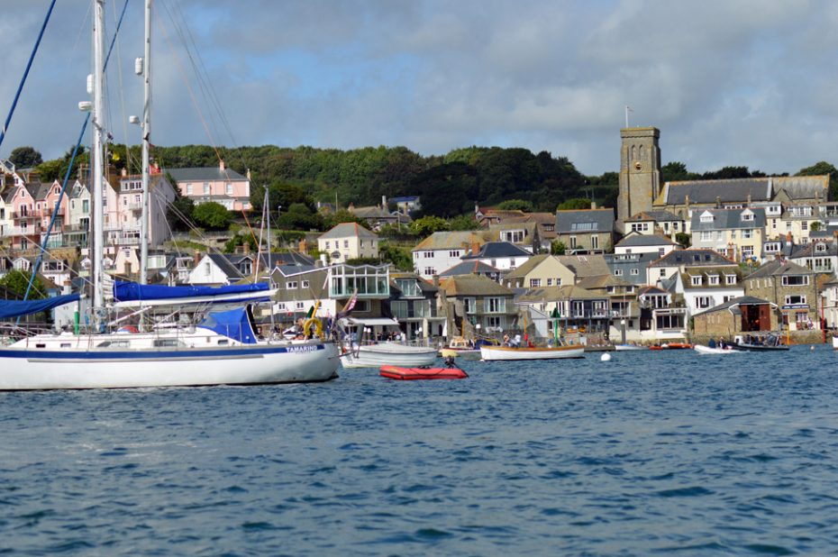 Looking back towards Salcombe from the dinghy