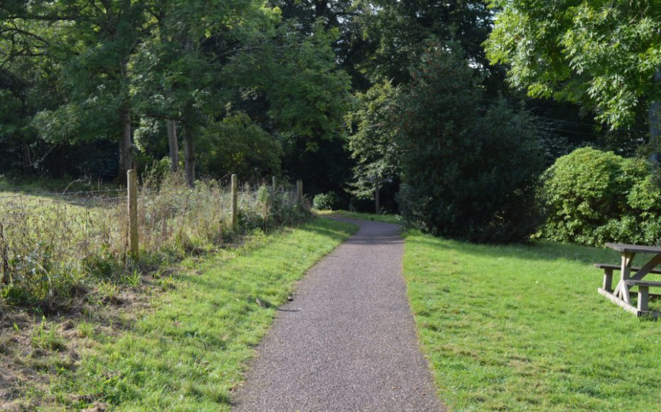 The path leading to Greenway Lane