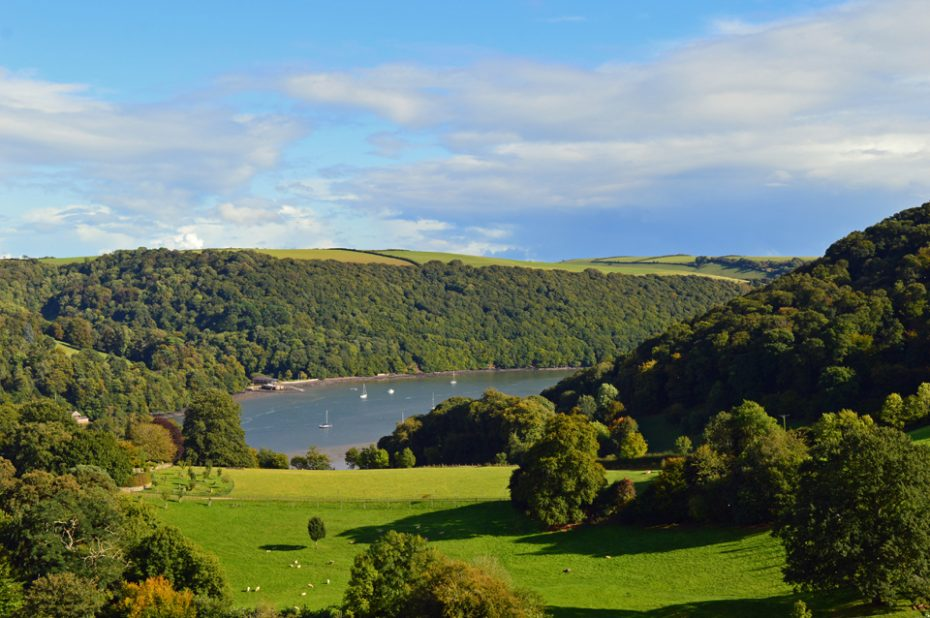 A view of the Dart Valley above Dittisham