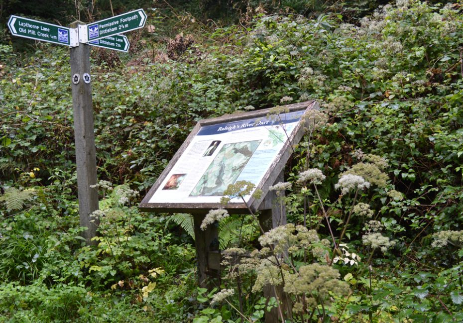 Information board at the Raleigh Estate