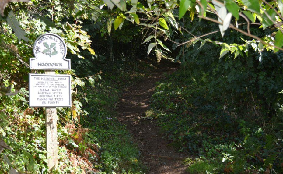 National Trust footpath near Kingswear