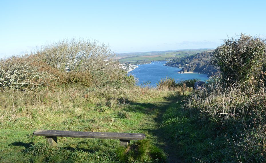 Bench over Salcombe 2
