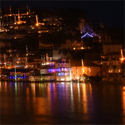 Nighttime views of KIngswear from Dartmouth