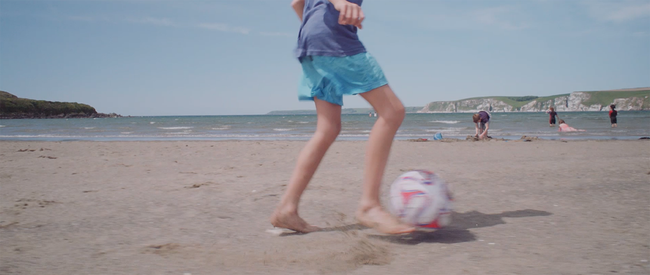 Ball games at Bigbury-On-Sea