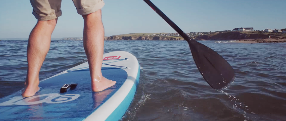 Paddleboarding at South Milton Sands