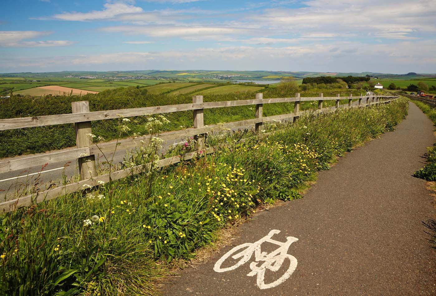 Malborough village cycle path