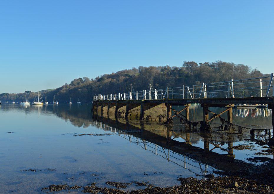 The pontoon at Dittisham Quay