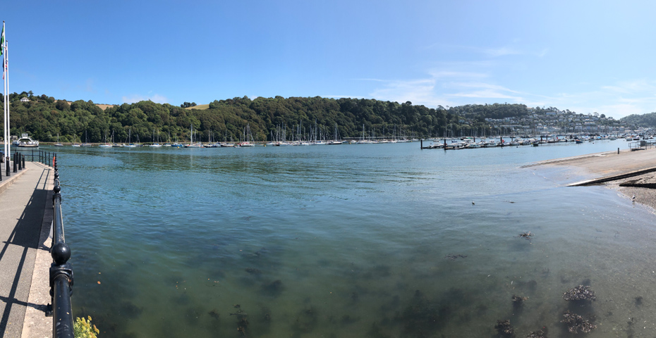 Kingswear ferry to Dartmouth route
