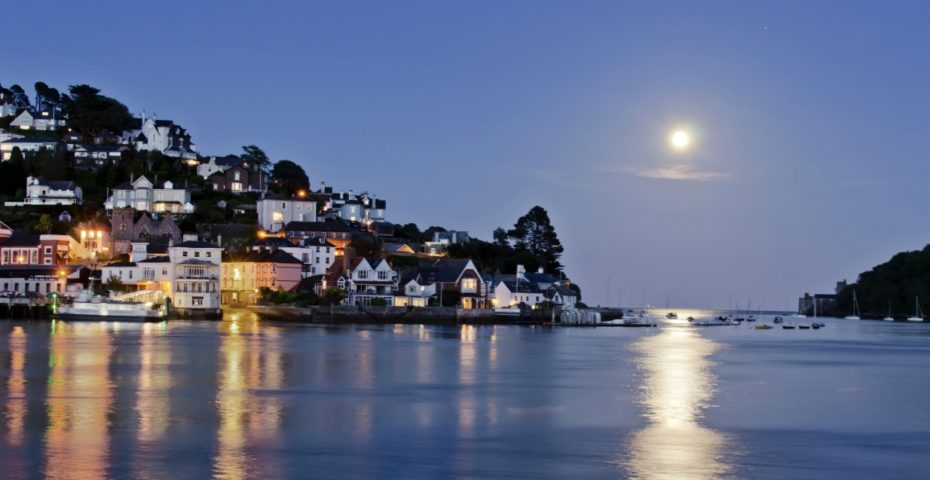 view of kingswear at night
