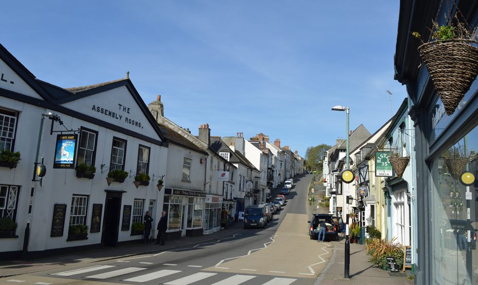 Modbury from the foot of Church Street