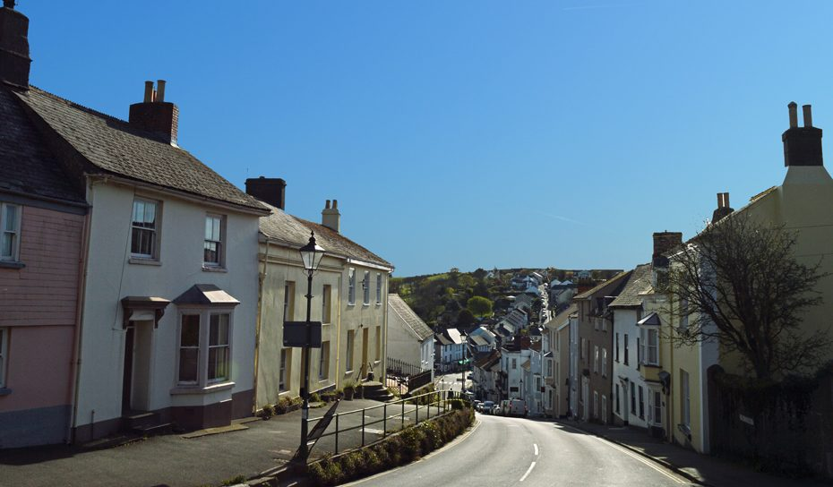 Modbury from the top of the hill