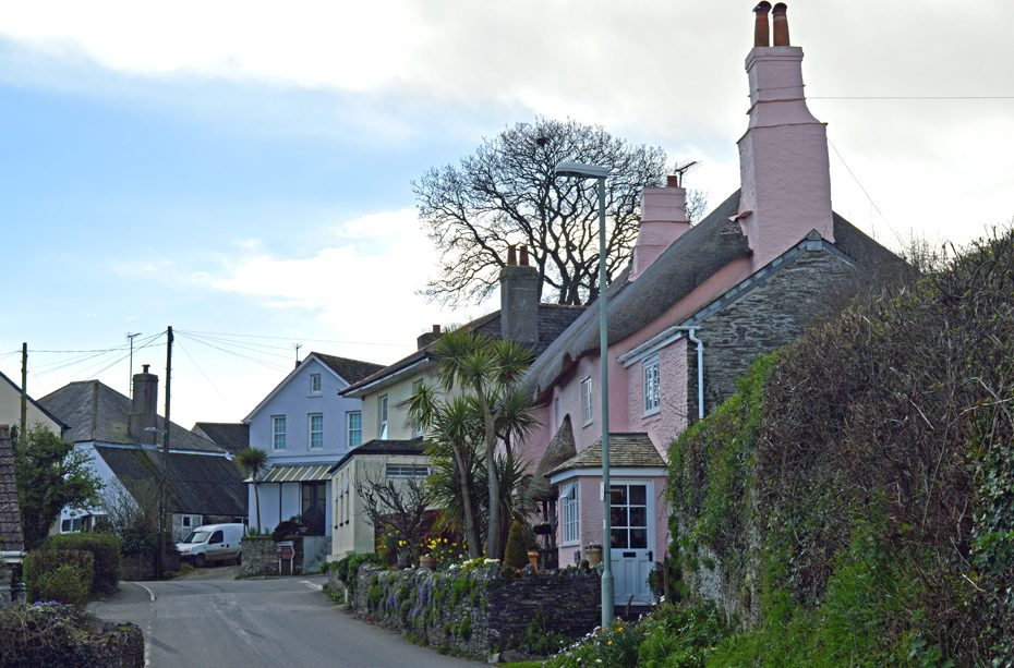 Strete, a village in South Devon