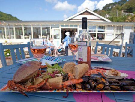 South Devon beach cafes - The Winking Prawn