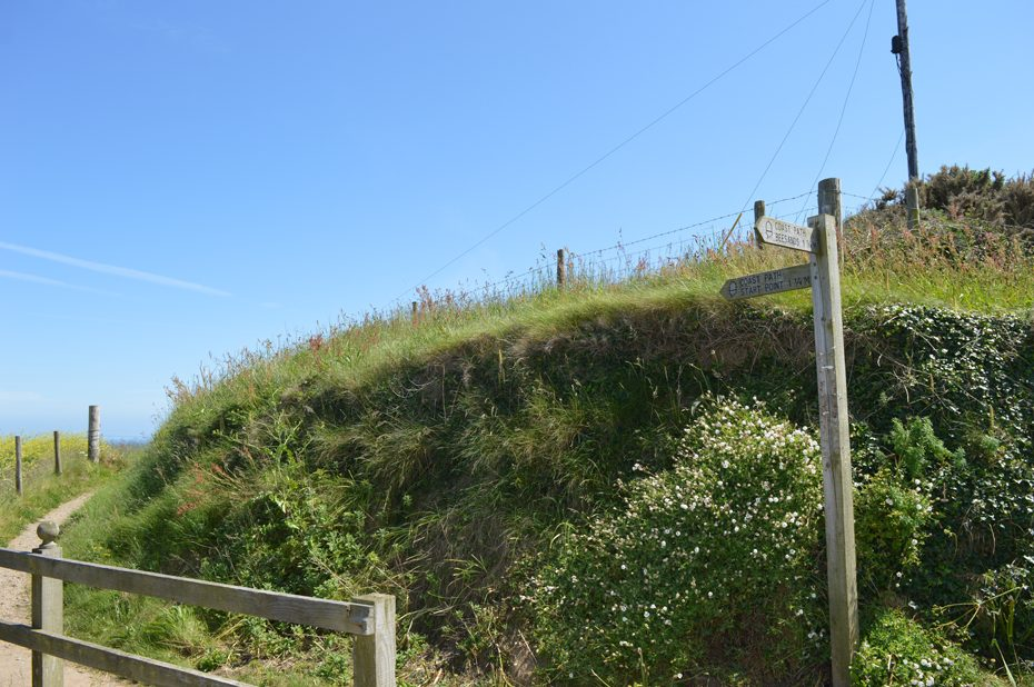 The footpath by Prospect House (Hallsands)