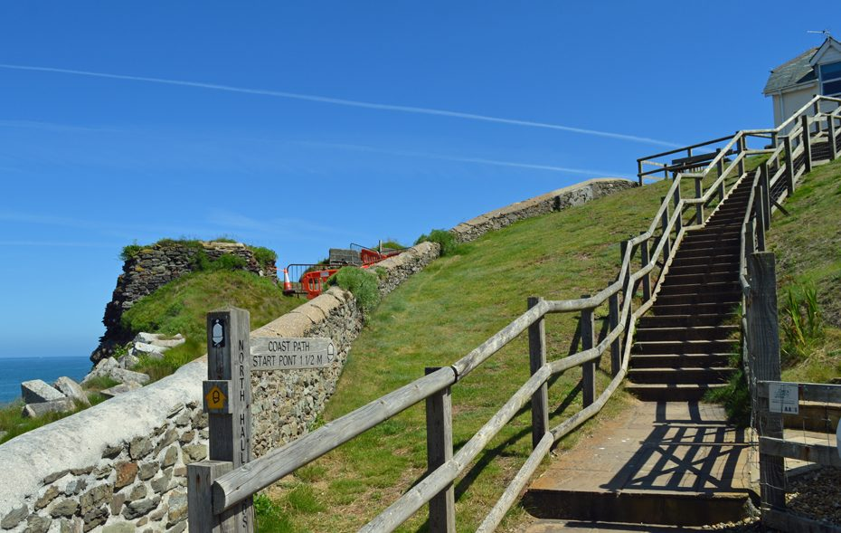 The footpath to the Coast Path at Hallsands