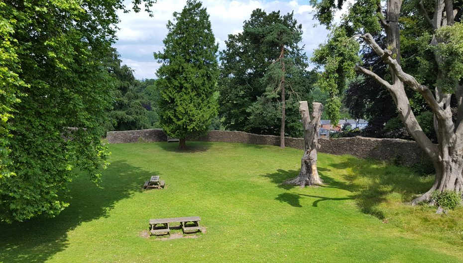 Picnic spots at Totnes Castle