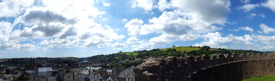 The view from Totnes Castle