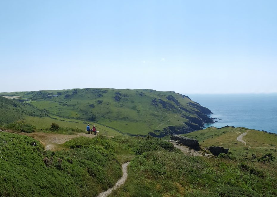 The South West Coast Path between Bolberry Down and Soar Mill Cove
